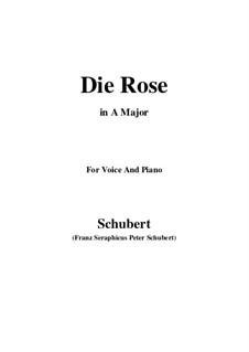 Роза, D.745 Op.73: Для голоса и фортепиано (A Major) by Франц Шуберт