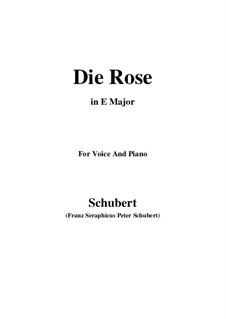 Роза, D.745 Op.73: Для голоса и фортепиано (E Major) by Франц Шуберт