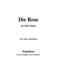 Роза, D.745 Op.73: Для голоса и фортепиано (E Flat Major) by Франц Шуберт