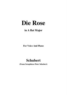 Роза, D.745 Op.73: Для голоса и фортепиано (A Flat Major) by Франц Шуберт