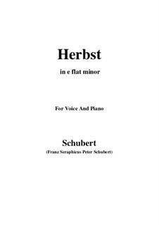 Осень, D.945: E flat minor by Франц Шуберт