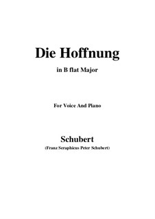 Надежда, D.637 Op.87 No.2: B flat Major by Франц Шуберт