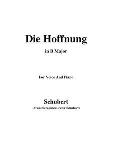 Надежда, D.637 Op.87 No.2: B Major by Франц Шуберт