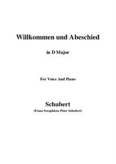 Willkommen und Abschied, D.767 Op.56 No.1: Для голоса и фортепиано (D Major) by Франц Шуберт