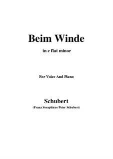 Beim Winde (When the Wind Blows), D.669: E flat minor by Франц Шуберт