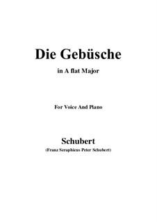 Die Gebüsche (The Bushes), D.646: A flat Major by Франц Шуберт