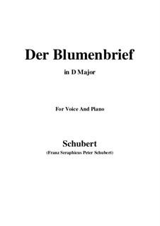 Der Blumenbrief (The Message of Flowers), D.622: Для голоса и фортепиано (D Major) by Франц Шуберт