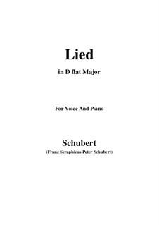 Lied: D flat Major by Франц Шуберт