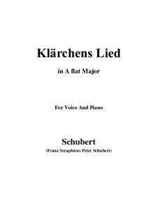 Die Liebe (Love), D.210: Для голоса и фортепиано (A Flat Major) by Франц Шуберт