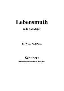 Lebensmut (Unvollendet), D.937: G flat Major by Франц Шуберт