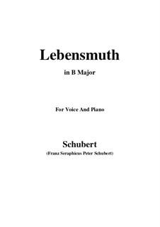 Lebensmut (Unvollendet), D.937: B Major by Франц Шуберт