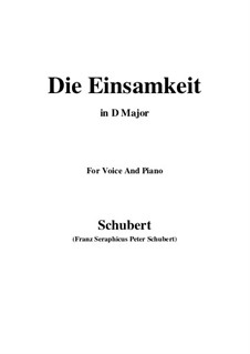 Einsamkeit (Solitude), D.620: D Major by Франц Шуберт