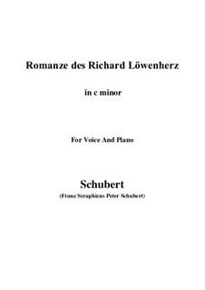 Романс Ричарда Львиное Сердце, D.907 Op.86: For voice and piano (c minor) by Франц Шуберт
