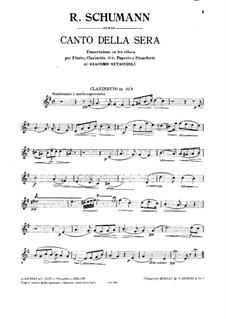 Canto della sera: Партия кларнета by Роберт Шуман