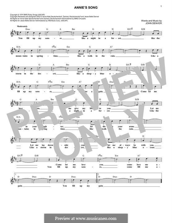 Annie's Song: Мелодия by John Denver