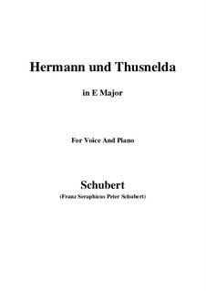 Hermann and Thusnelda, D.322: Для голоса и фортепиано (E Major) by Франц Шуберт