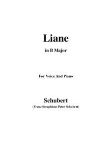 Liane, D.298: B Major by Франц Шуберт