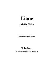 Liane, D.298: B flat Major by Франц Шуберт