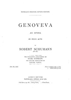 Геновева, Op.81: Увертюра и Акты I-II by Роберт Шуман