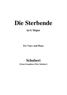 Die Sterbende (The Dying Girl), D.186: G Major by Франц Шуберт