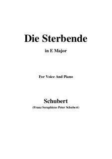 Die Sterbende (The Dying Girl), D.186: E Major by Франц Шуберт