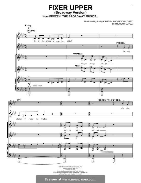 Fixer Upper: Для голоса и фортепиано by Robert Lopez, Kristen Anderson-Lopez