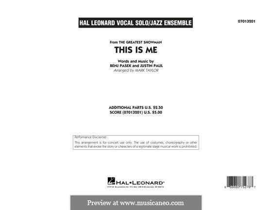 This is Me: Conductor score (full score) arr. Mark Taylor by Justin Paul, Benj Pasek