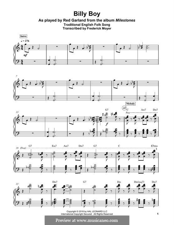 Billy Boy: Для фортепиано by folklore