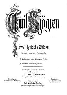Две лирические пьесы для скрипки и фортепиано: No.2 Анданте состенуто – сольная партия by Эмиль Шёгрен