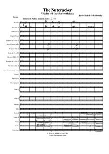 No.9 Вальс снежных хлопьев: For full orchestra by Петр Чайковский