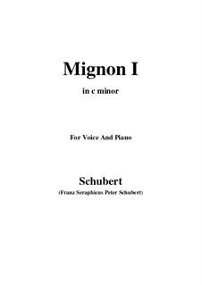 Миньон (I), D.726: C minor by Франц Шуберт