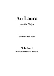 An Laura (To Laura), D.115: A flat Major by Франц Шуберт
