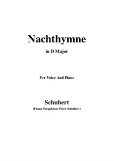 Nachthymne (Hymn to the Night), D.687: D Major by Франц Шуберт