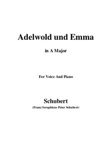 Adelwold and Emma, D.211: Ля мажор by Франц Шуберт
