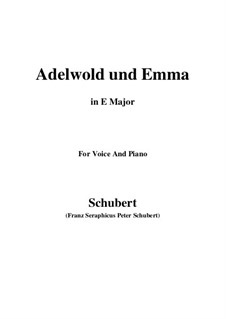 Adelwold and Emma, D.211: E Major by Франц Шуберт