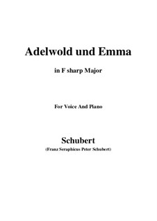 Adelwold and Emma, D.211: F sharp Major by Франц Шуберт