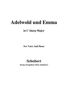 Adelwold and Emma, D.211: C sharp Major by Франц Шуберт