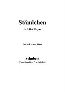 Серенада 'Horch, horch die Lerch im Ätherblau', D.889: Для голоса и фортепиано (B Flat Major) by Франц Шуберт