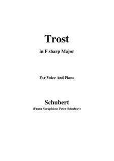 Trost (Consolation), D.671: F sharp Major by Франц Шуберт