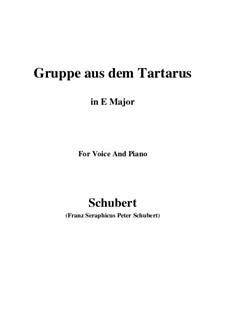Gruppe aus dem Tartarus (Group from Hades), D.583 Op.24 No.1: Для голоса и фортепиано (E Major) by Франц Шуберт