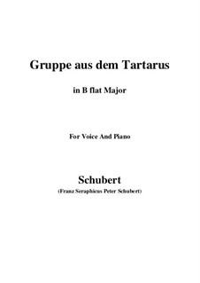 Gruppe aus dem Tartarus (Group from Hades), D.583 Op.24 No.1: Для голоса и фортепиано (B Flat Major) by Франц Шуберт