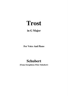 Trost (Consolation), D.671: G Major by Франц Шуберт
