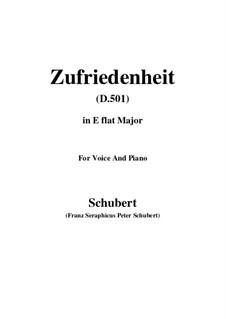 Zufriedenheit (Contentment), D.501: E flat Major by Франц Шуберт