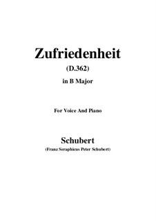 Песня для голоса и фортепиано, D.362: B Major by Франц Шуберт