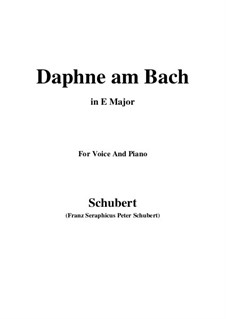 Daphne am Bach (Daphne by the Brook), D.411: E Major by Франц Шуберт