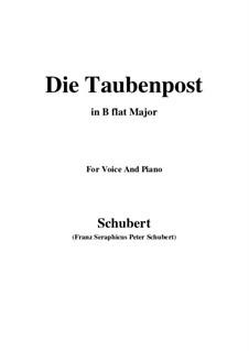 No.14 Голубиная почта: Для голоса и фортепиано (B Flat Major) by Франц Шуберт