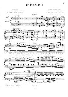 Симфония No.2, Op.36: Версия для двух фортепиано в четыре руки – партия первого фортепиано by Людвиг ван Бетховен