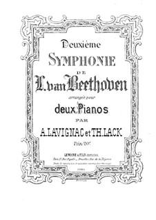 Симфония No.2, Op.36: Версия для двух фортепиано в четыре руки – партия второго фортепиано by Людвиг ван Бетховен
