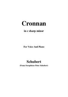 Cronnan, D.282: C sharp minor by Франц Шуберт