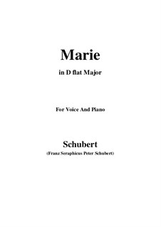 Marie (Mary), D.658: D flat Major by Франц Шуберт